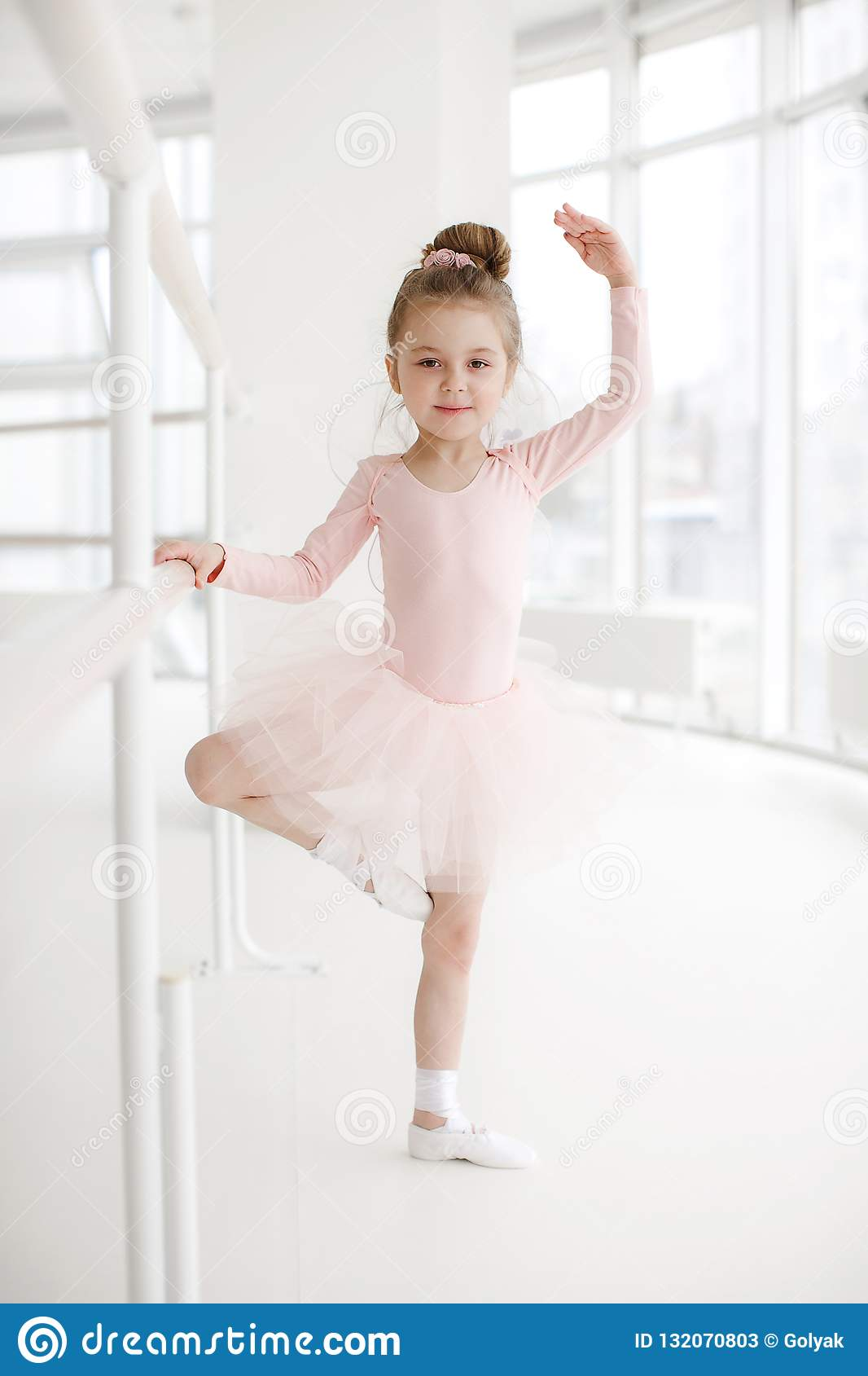 78a28e124 Little Cute Girl In Class In Ballet Studio Stock Image - Image of ...