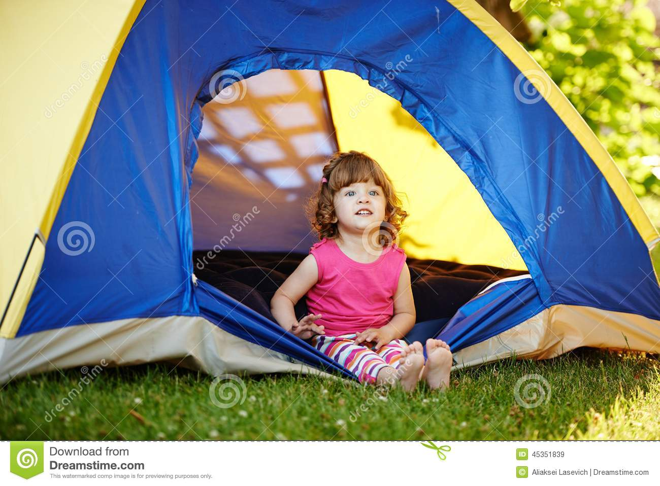 The tent girl
