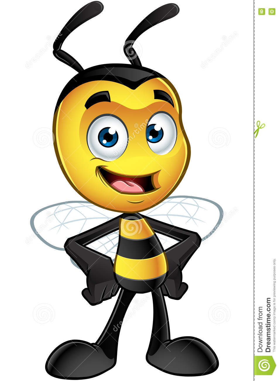Little Bee Character - Hands On Hips