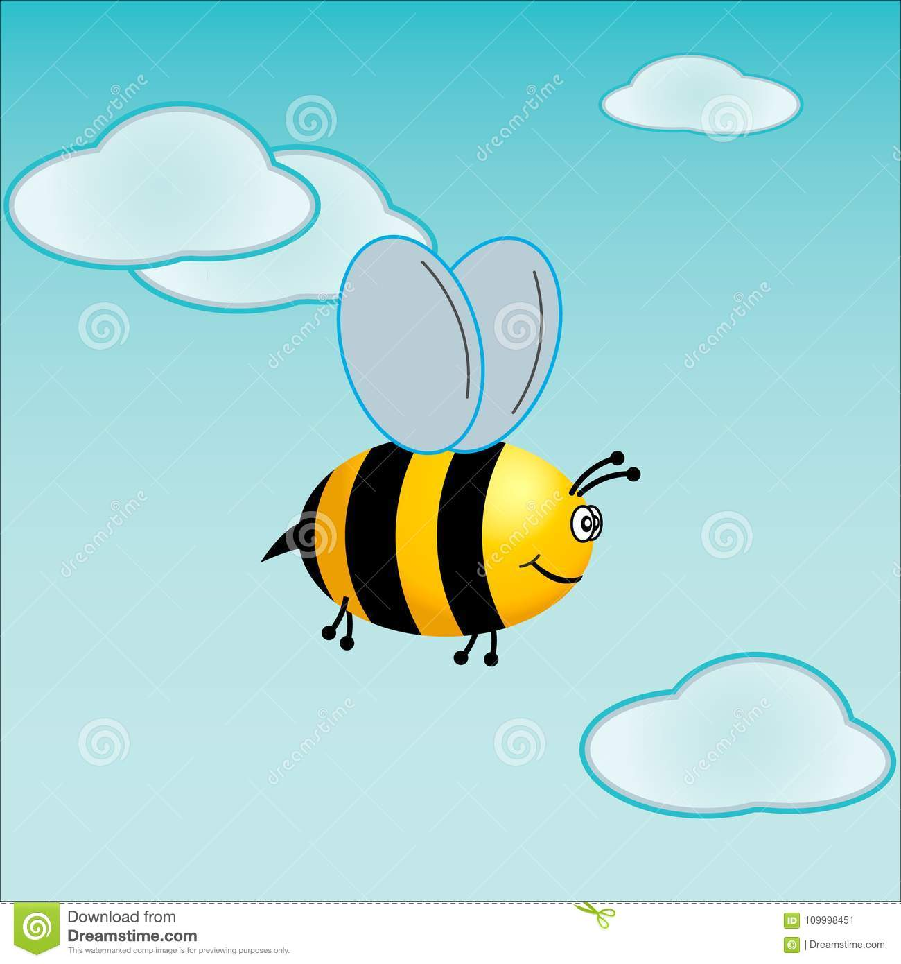 Little bee in the sky