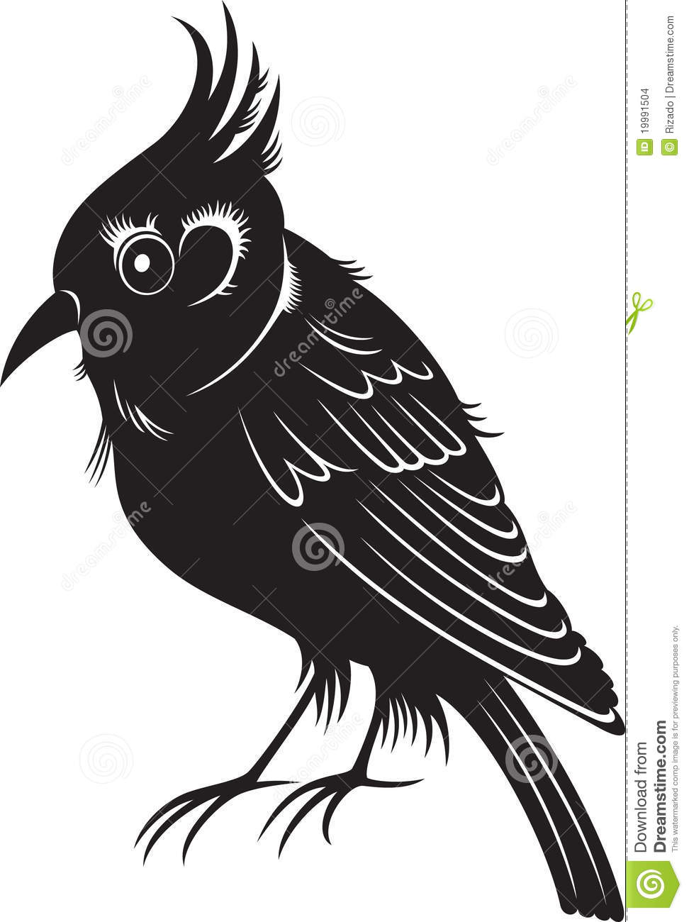 Little black cartoon bird stock images image 19991504 for Oiseau blanc et noir