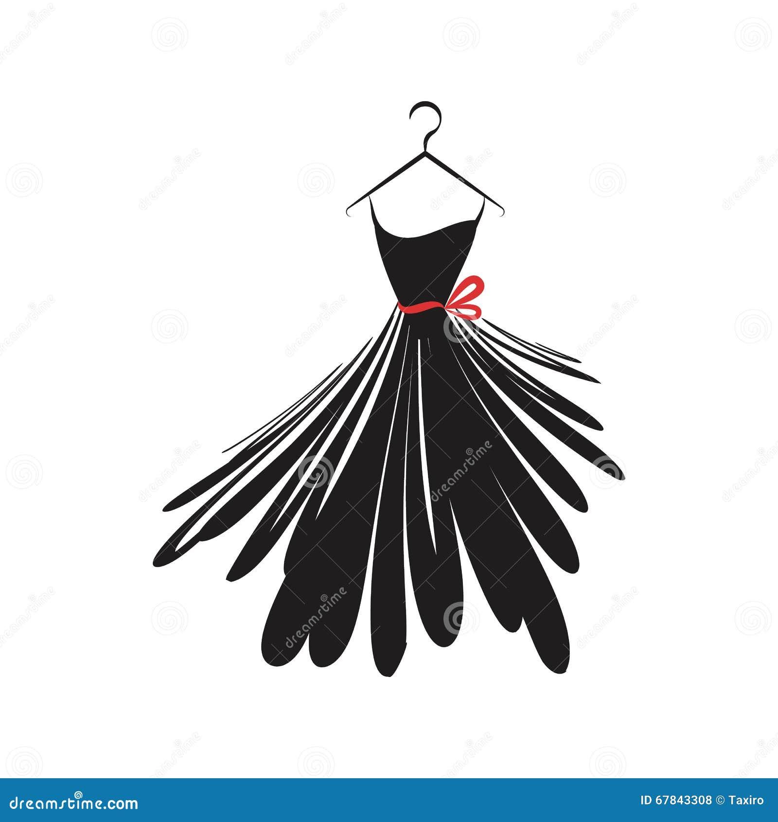 little black dress stock vector image 67843308