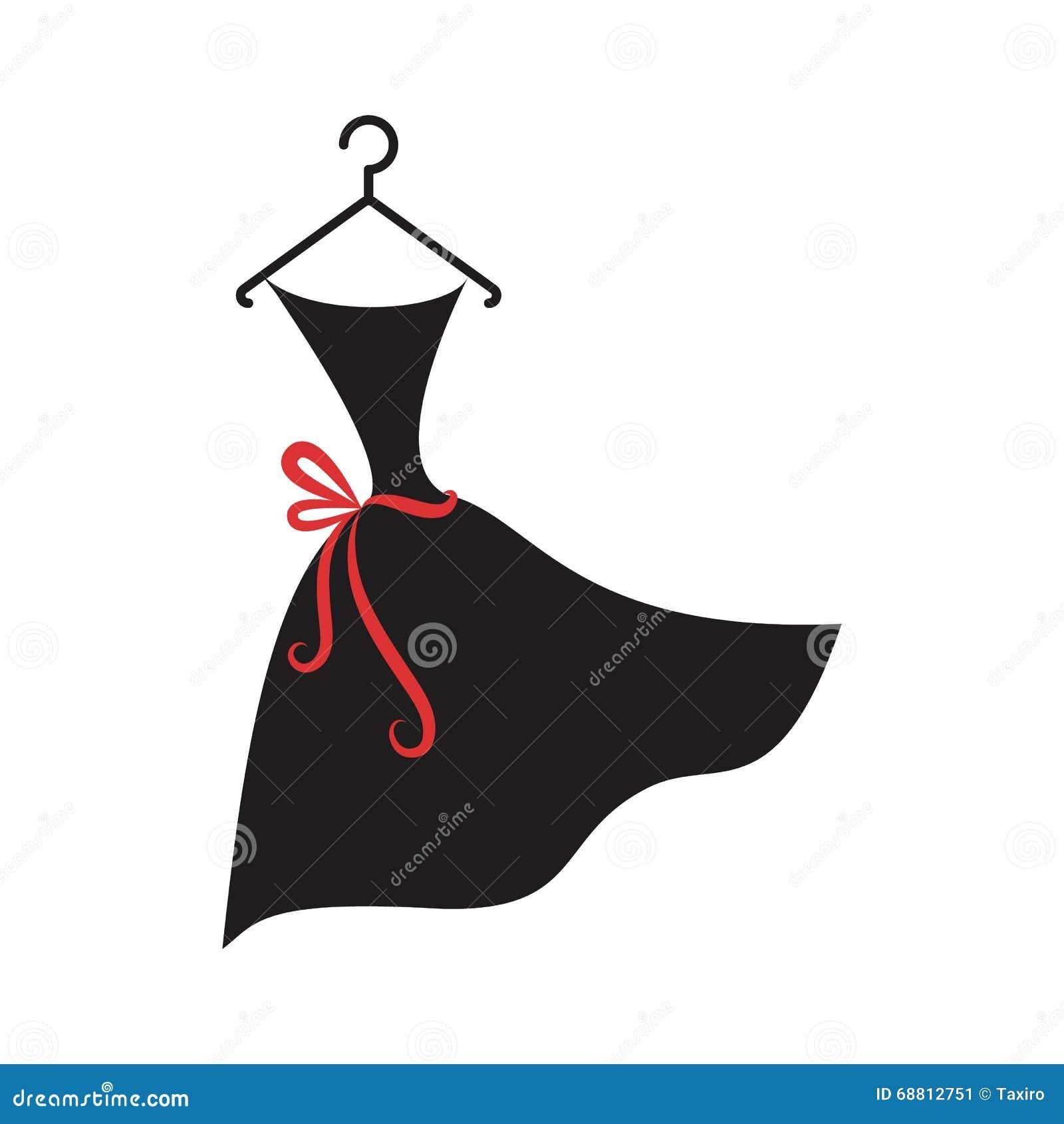 Little Black Dress Stock Vector Illustration Of
