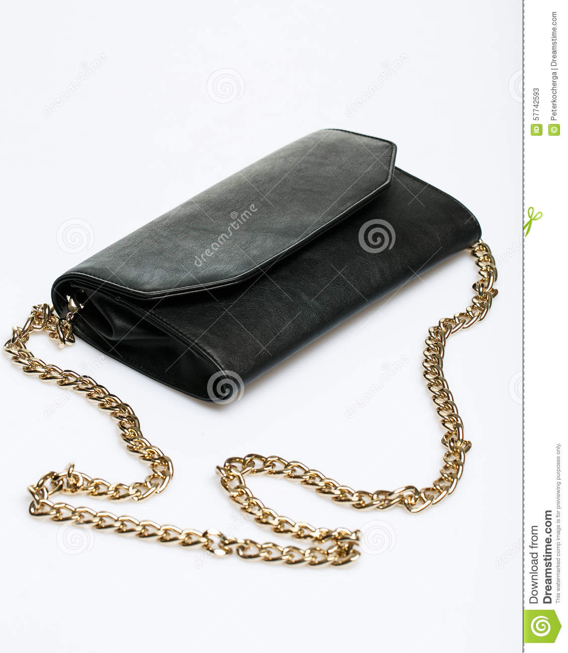 The Little Black Handbag Stock Photo - Image: 57742593