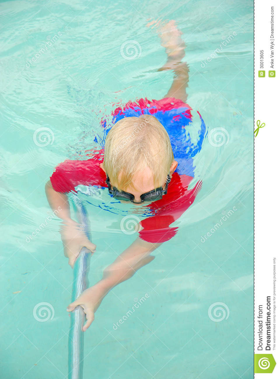 Download Boy cleaning swimming pool stock image. Image of swimmingpool - 30013605