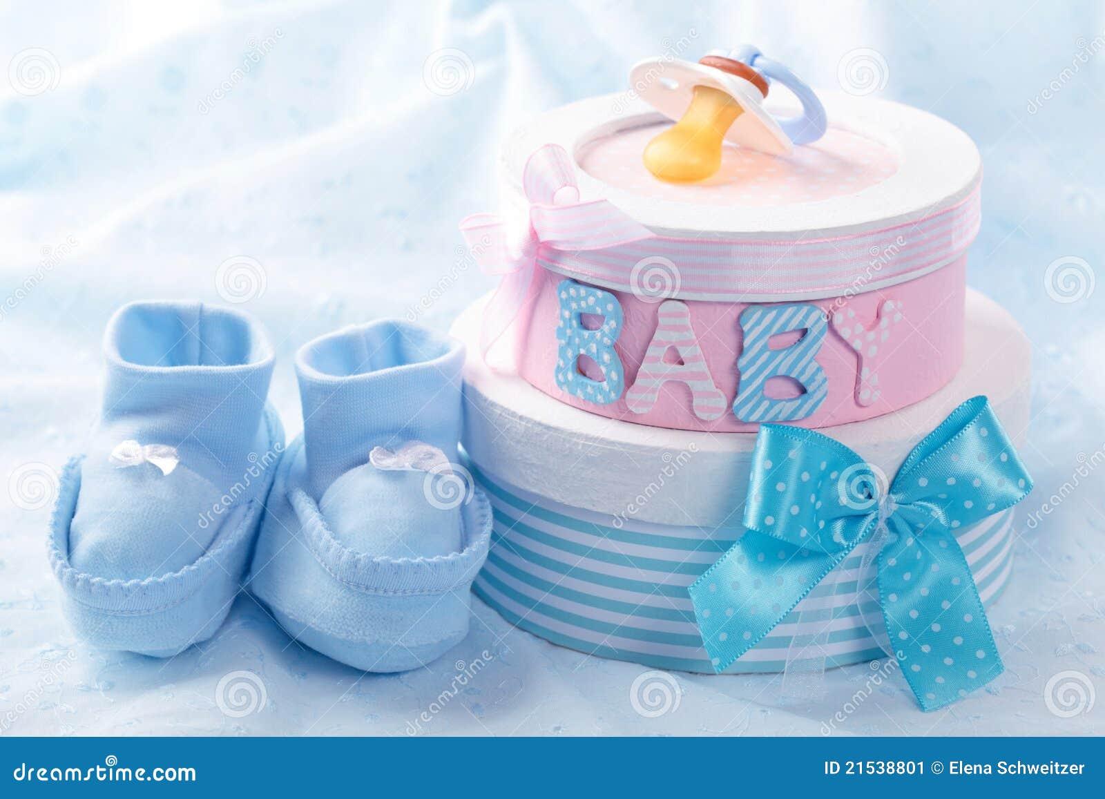 Little blue baby booties