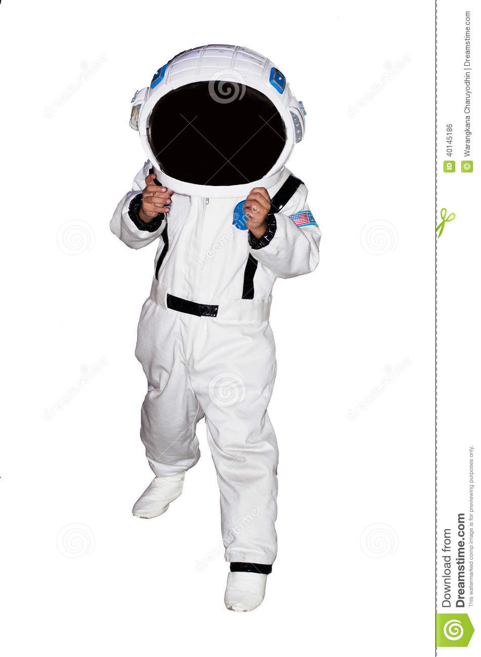 Little Boy Astronaut Isolated On White Background Stock ...