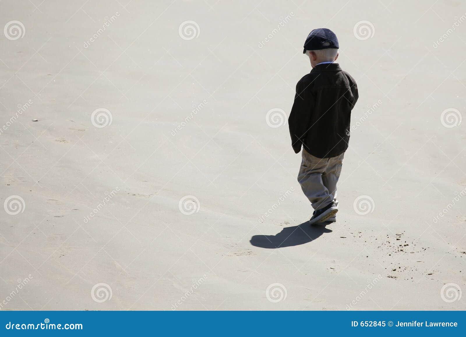 Little Boy On Beach Royalty Free Stock Photo - Image: 652845