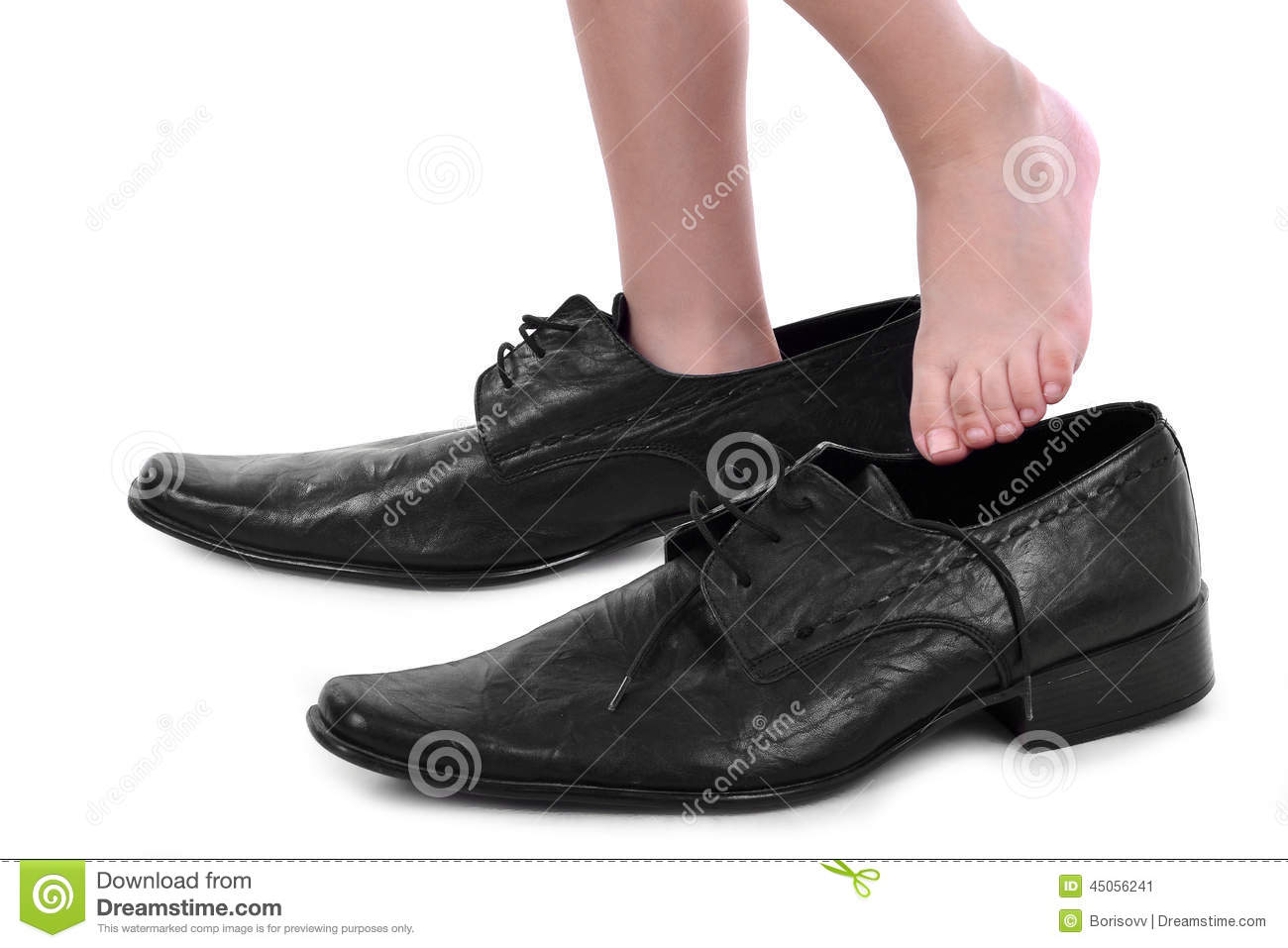 Kid With Shoe That Is Too Big