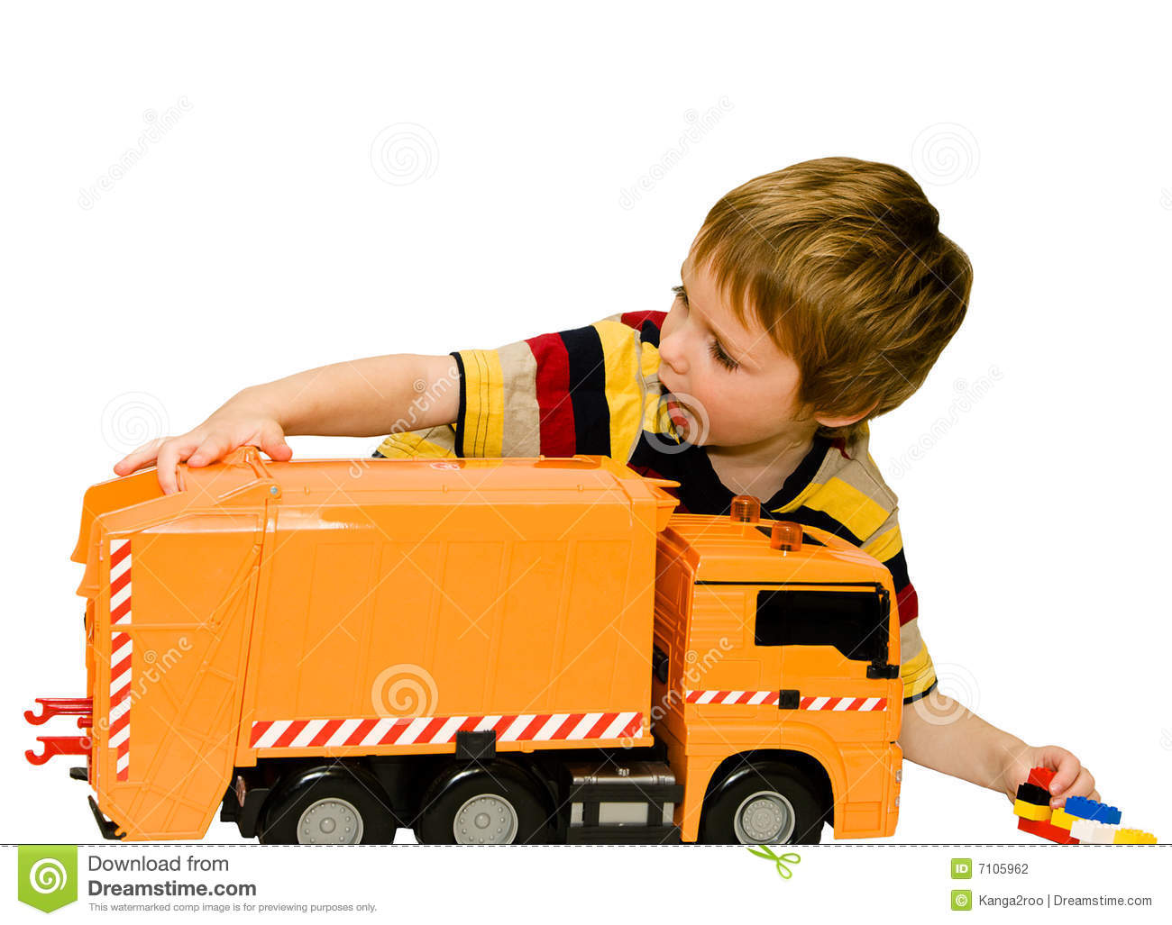 Little Big Boys Toys : Little boy with a big toy car stock photography image