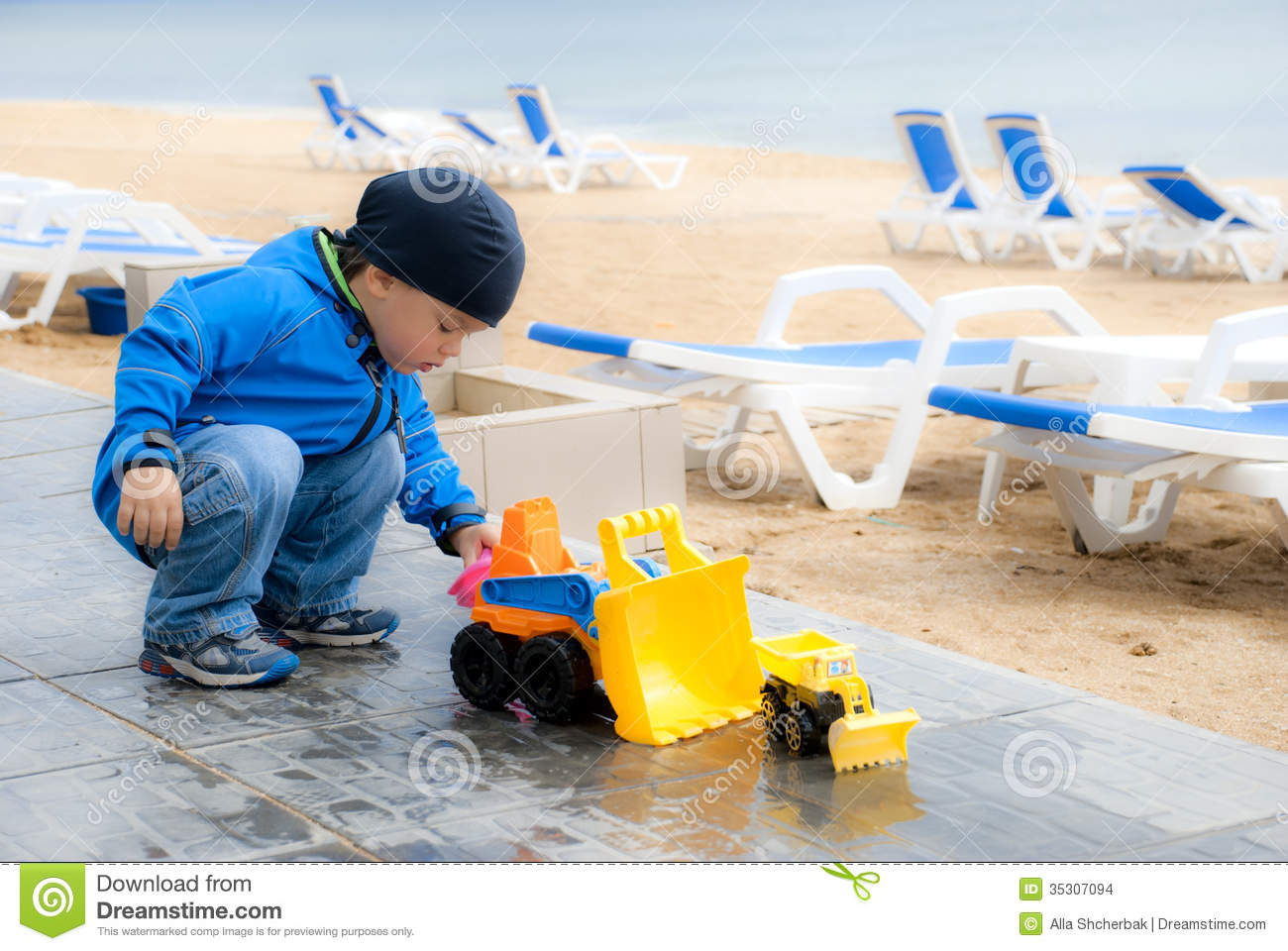Little Big Boys Toys : Little boy with a big toy car stock images image