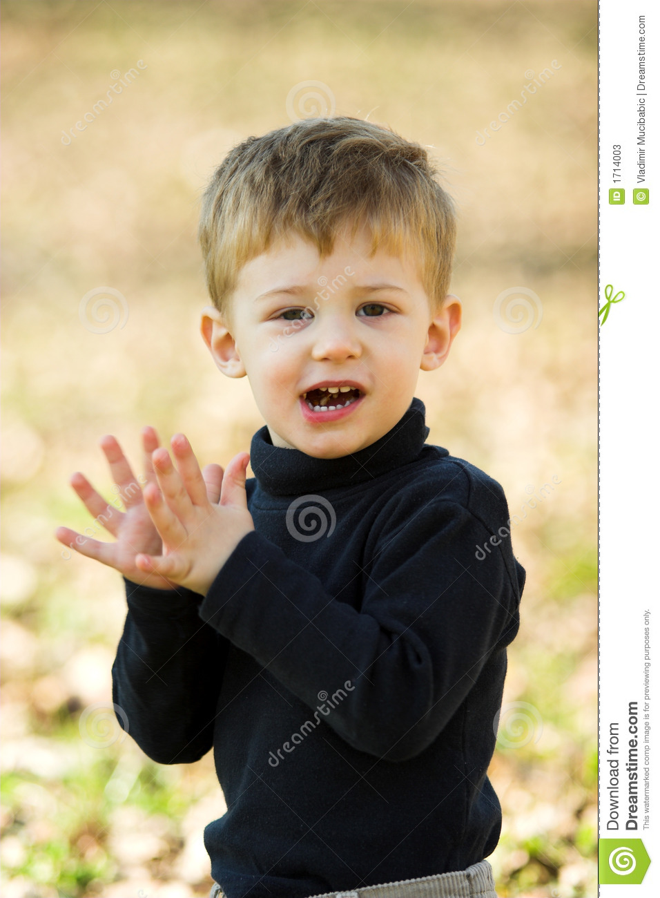 A Little Boy Clapping Stock Photos Image 1714003