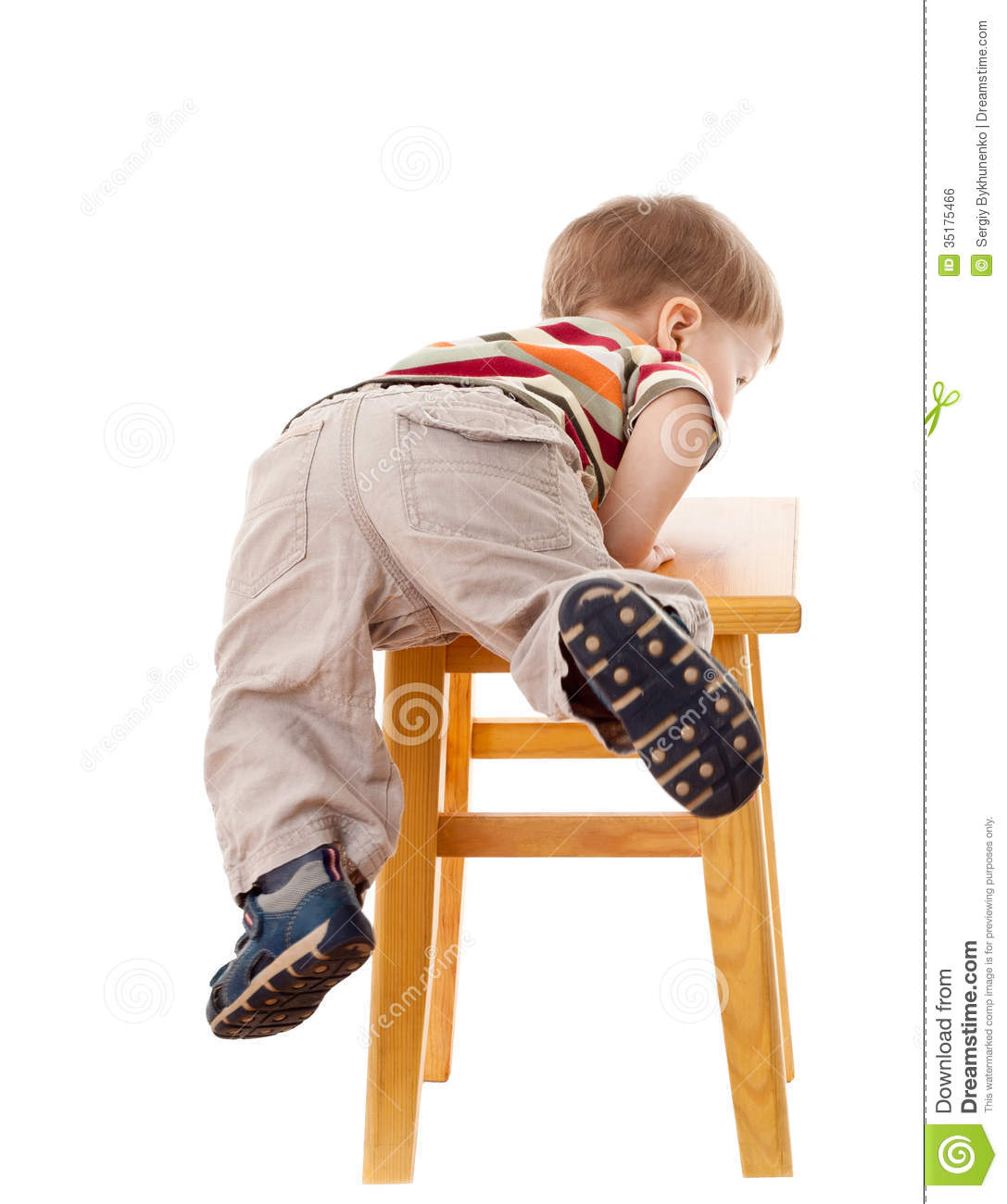 Free Bathroom Floor Plans Little Boy Climbing On Stool Royalty Free Stock Image