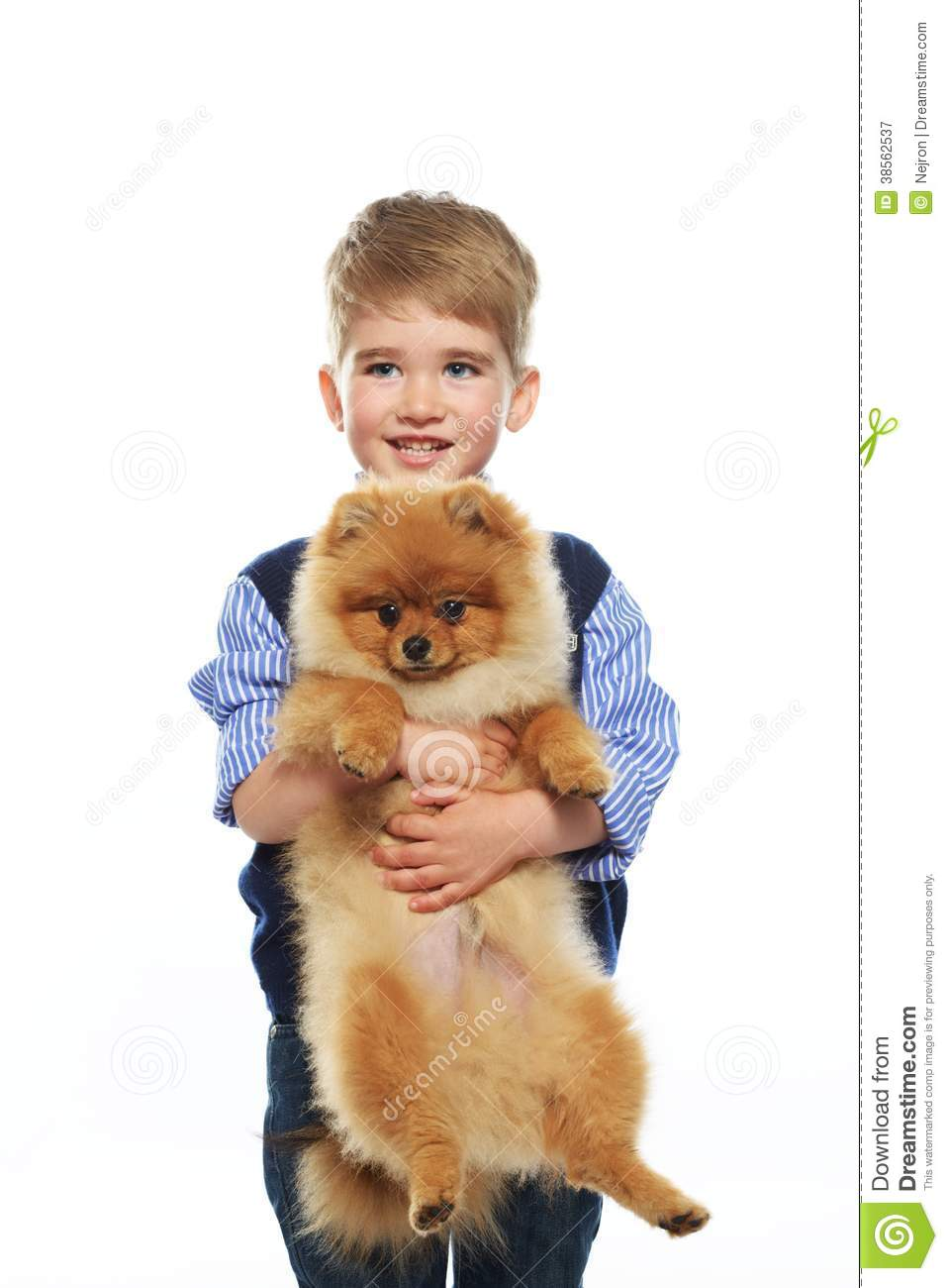 Little Boy With Dog Royalty Free Stock Photography Image