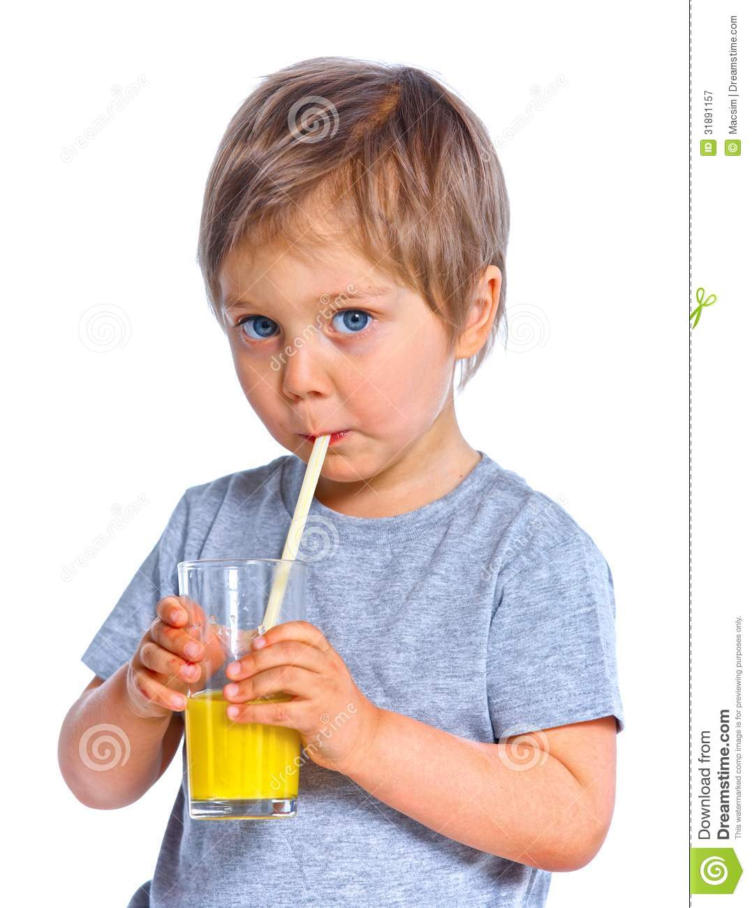 Http Www Dreamstime Com Royalty Free Stock Photography Little Boy Drinking Orange Juice Portrait Happy Isolated Over White Background Image31891157