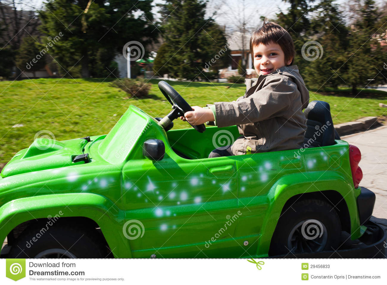 Little Boy With Toy Car : Little boy driving toy car stock photos image