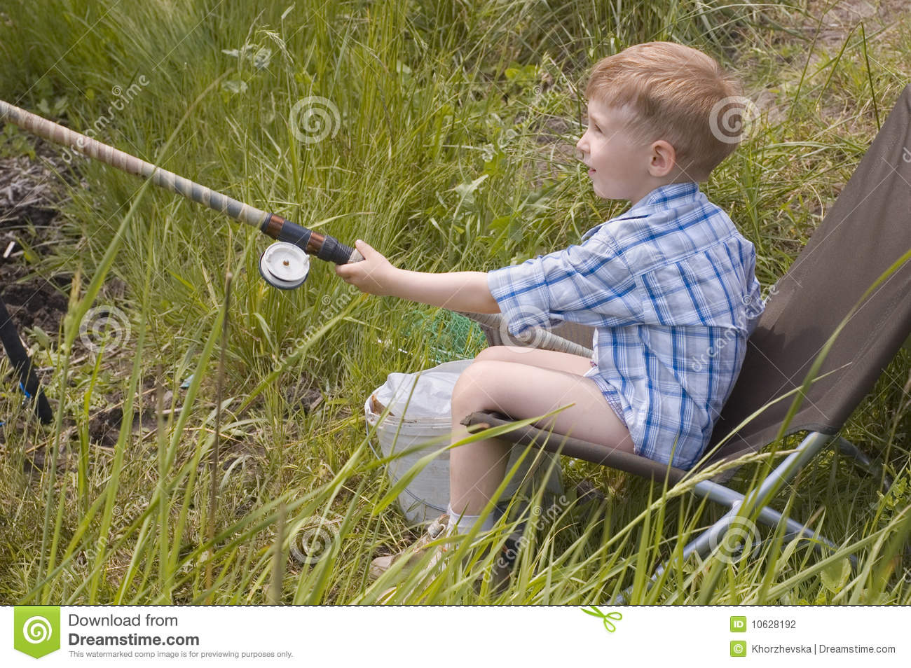 Little boy fishing stock photography image 10628192 for Little boy fishing