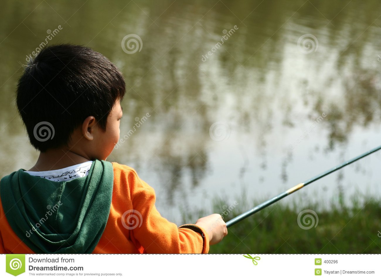 Little boy fishing royalty free stock image image 400296 for Little boy fishing
