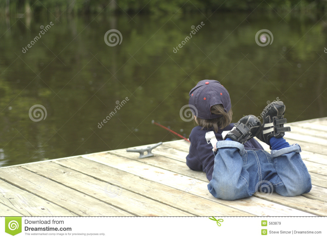 Little boy fishing stock image image of patient watch for Little boy fishing