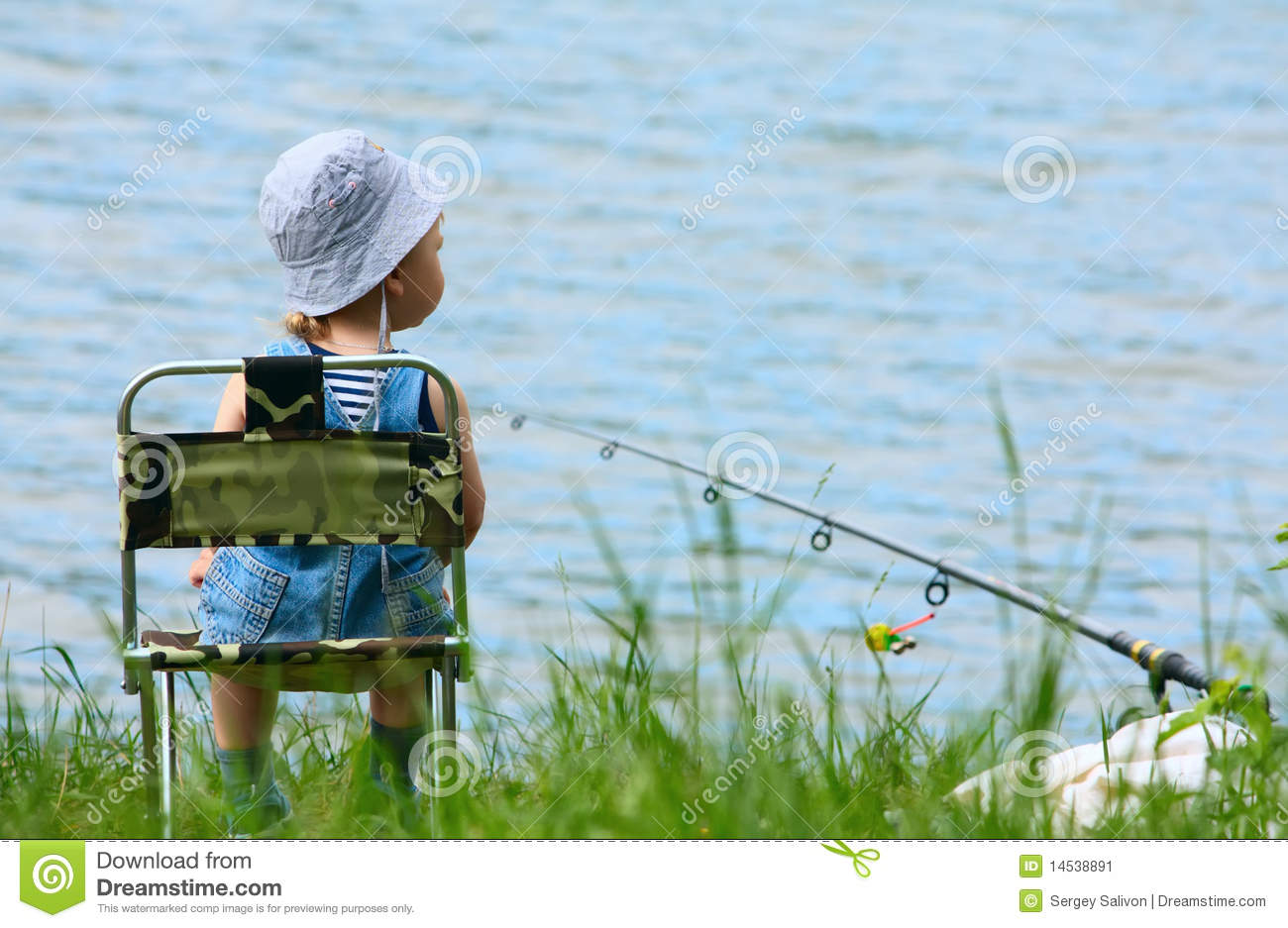 Little boy with fishing rod stock image image 14538891 for Little boy fishing