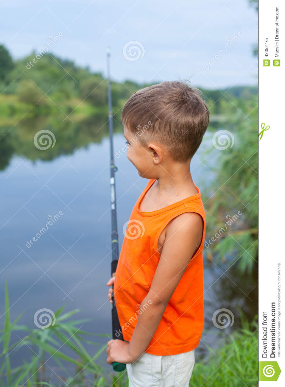 Little boy fishing stock photo image 43352775 for Little boy fishing