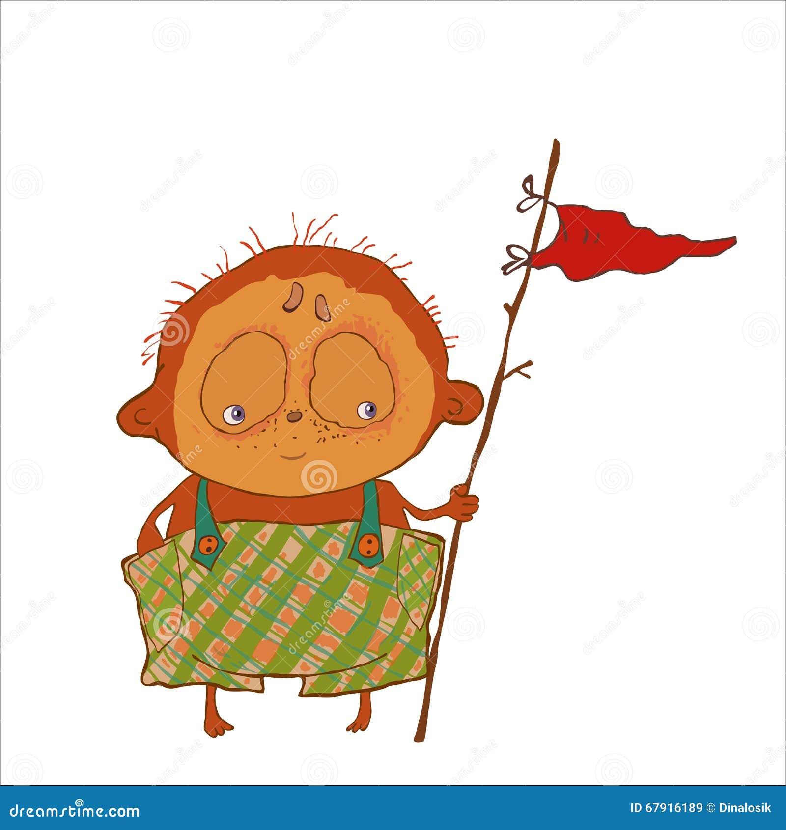 Cartoon Character Design Website : Vector illustration of cartoon little cute fat boy
