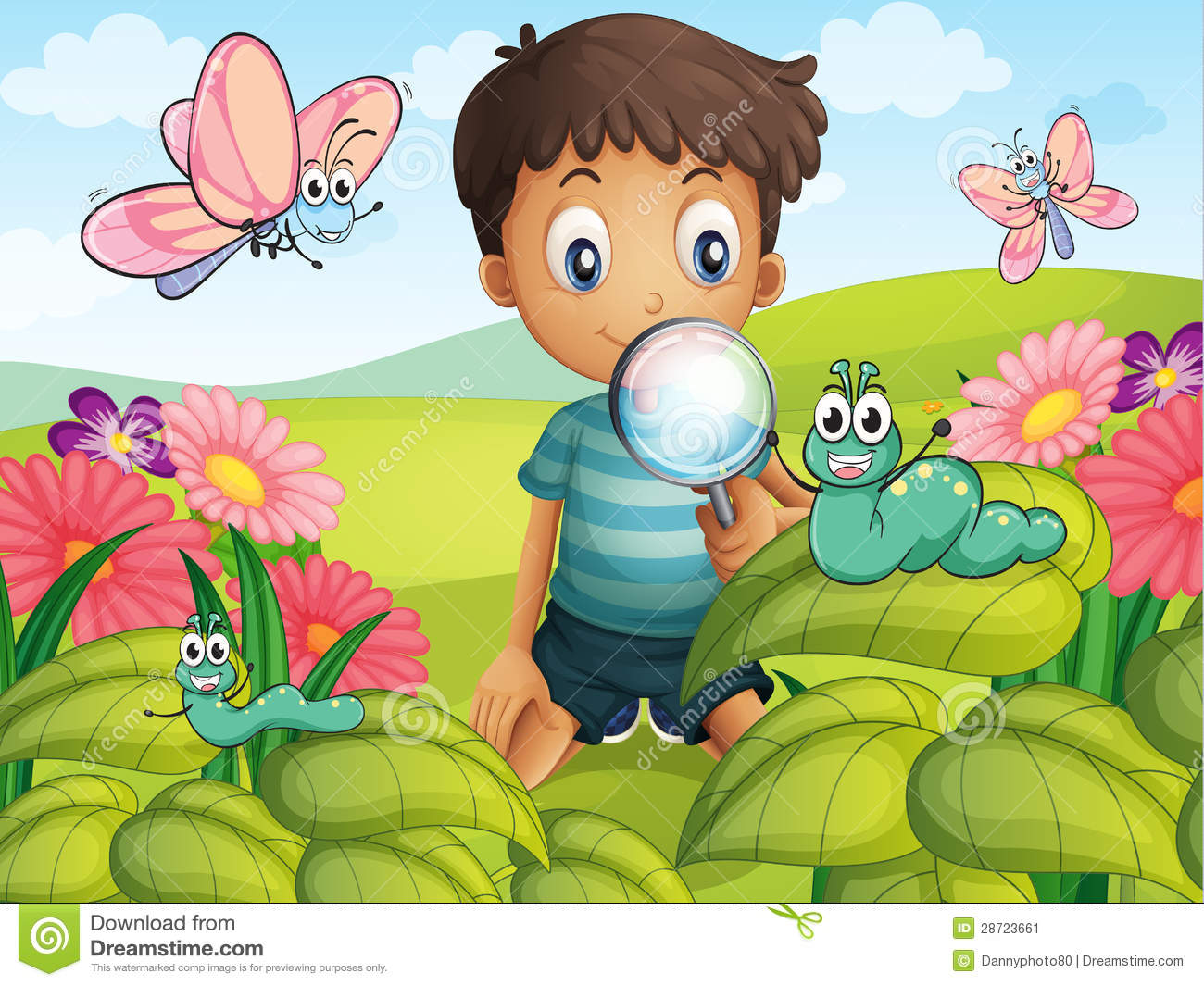 A Little Boy In The Garden Stock Image Image 28723661