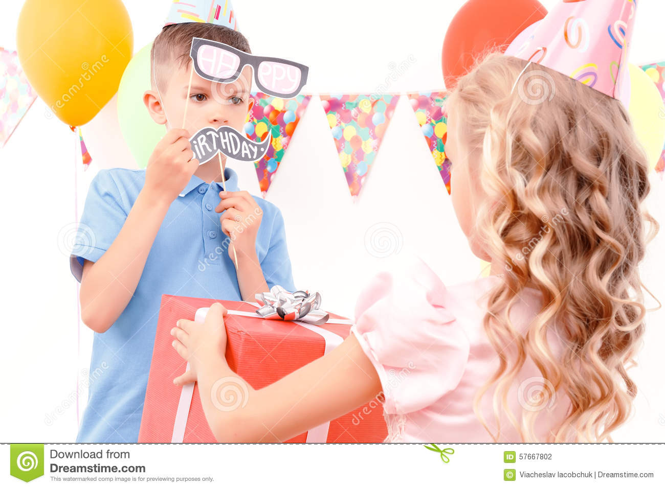 Little Boy Getting Birthday Present