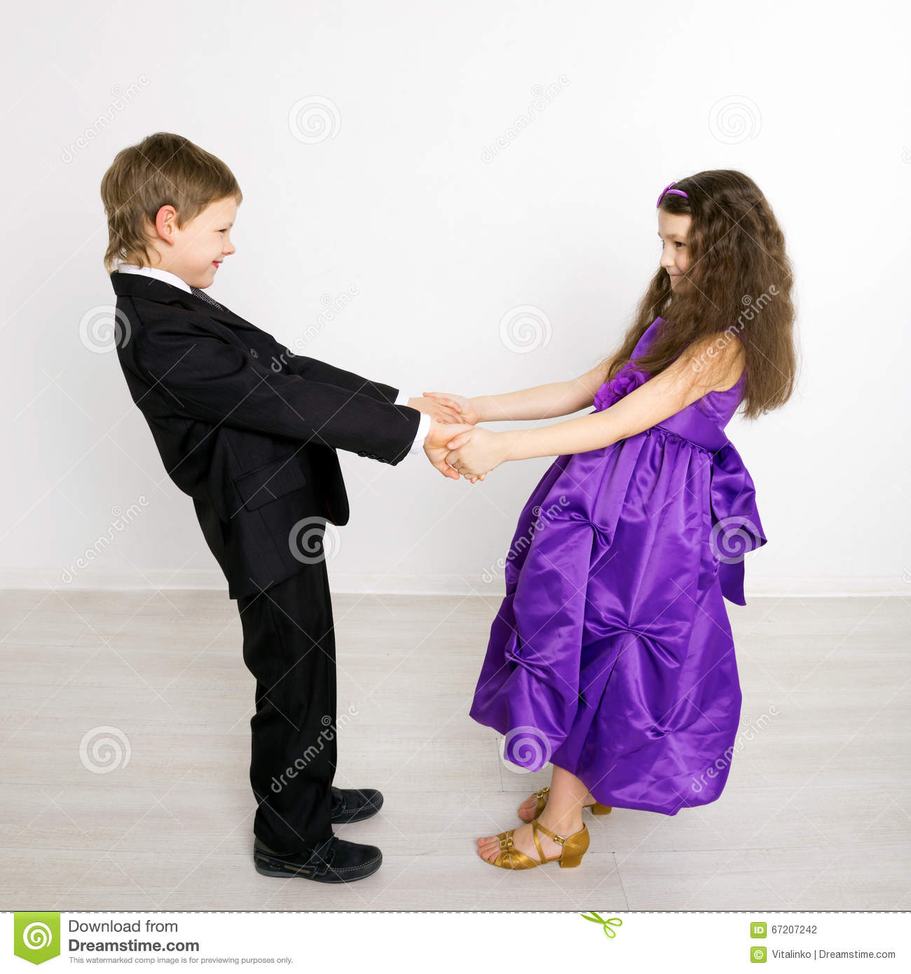 Little Boy And Girl Dancing Stock Photo Image Of Party Dancer