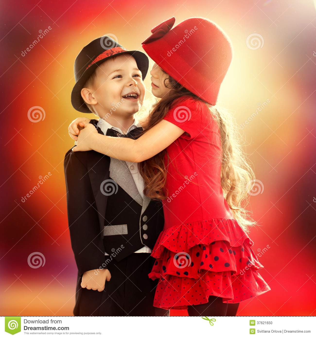 0de0287a9c30 Little Boy And Girl Hugging Stock Photo - Image of enjoyment