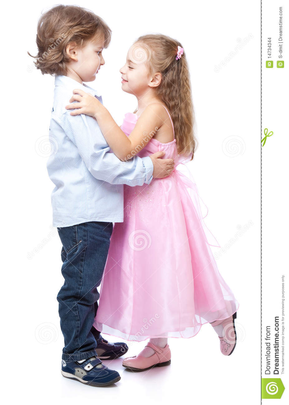 ed89cbadae87 Little Boy And Girl In Love Stock Photo - Image of cute ...