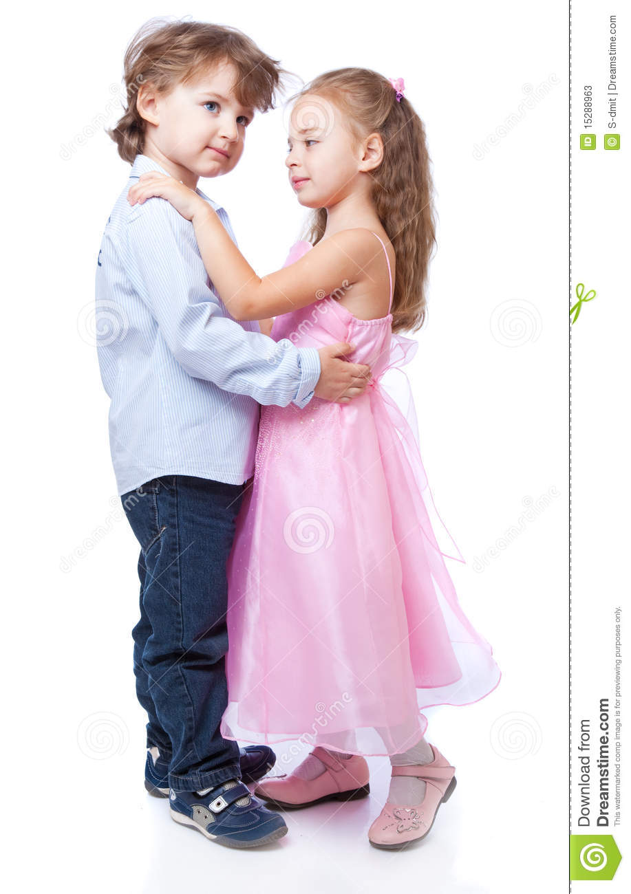 Boy And Girl Bedroom Decor: Little Boy And Girl In Love Stock Photos