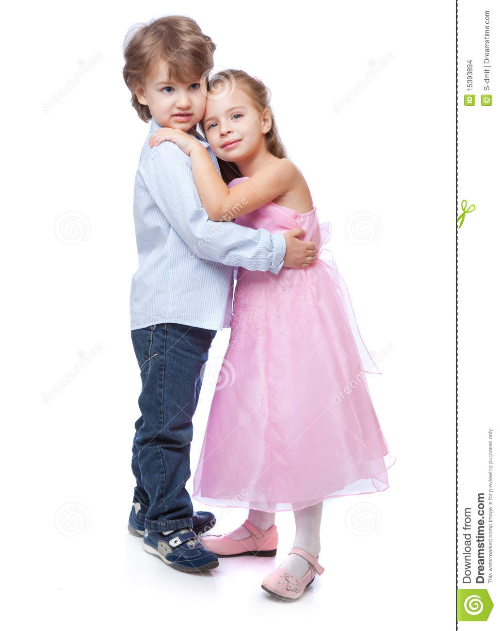 young boy and girl love