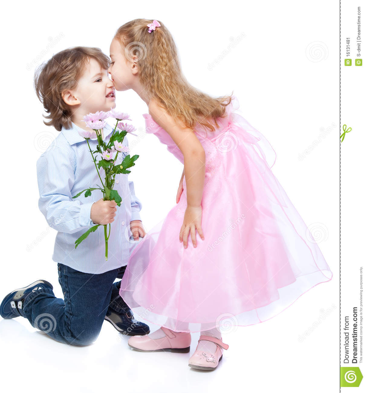 little boy and girl in love stock image image of affectionate