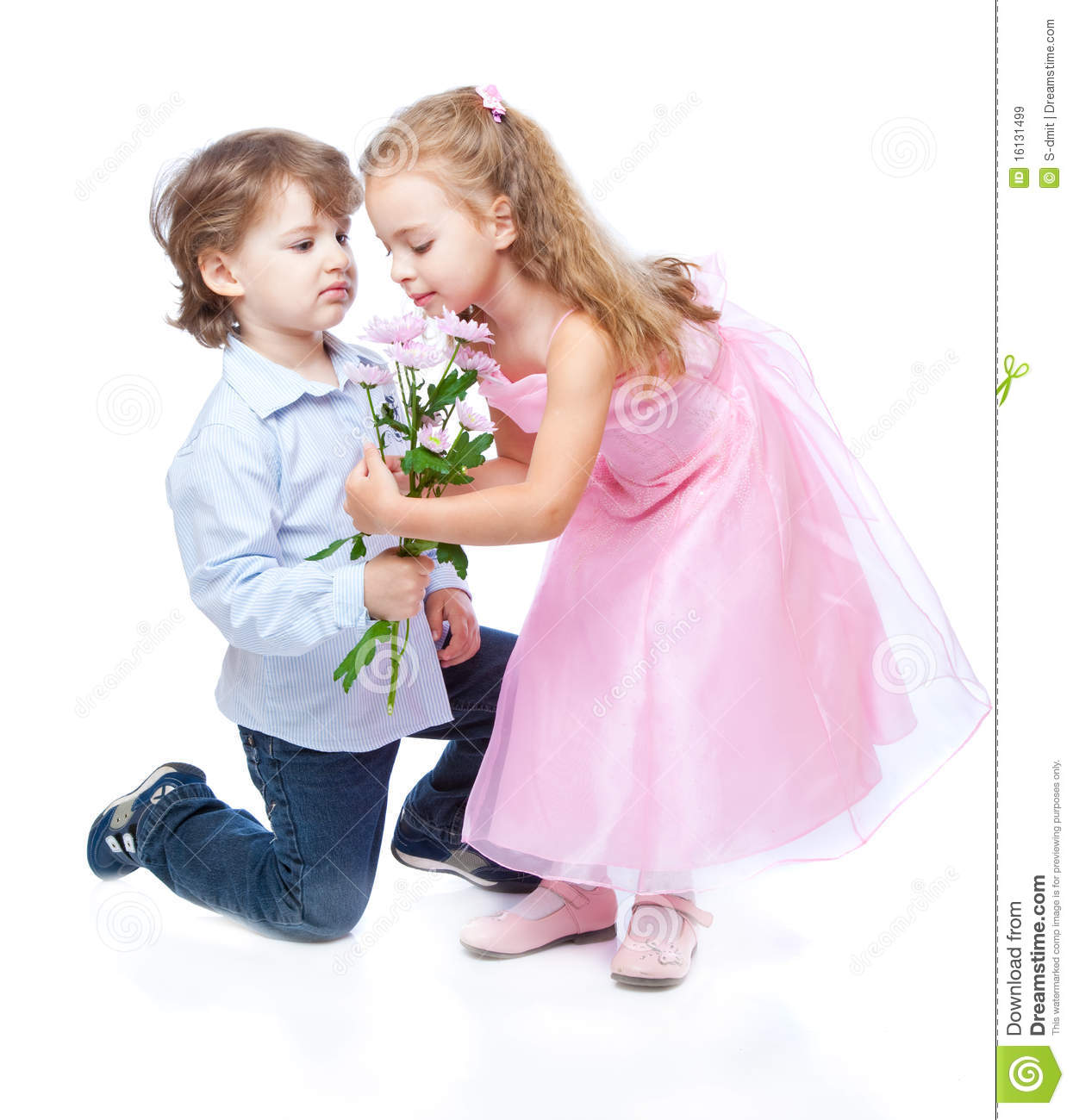 little boy and girl in love stock image image of family amused
