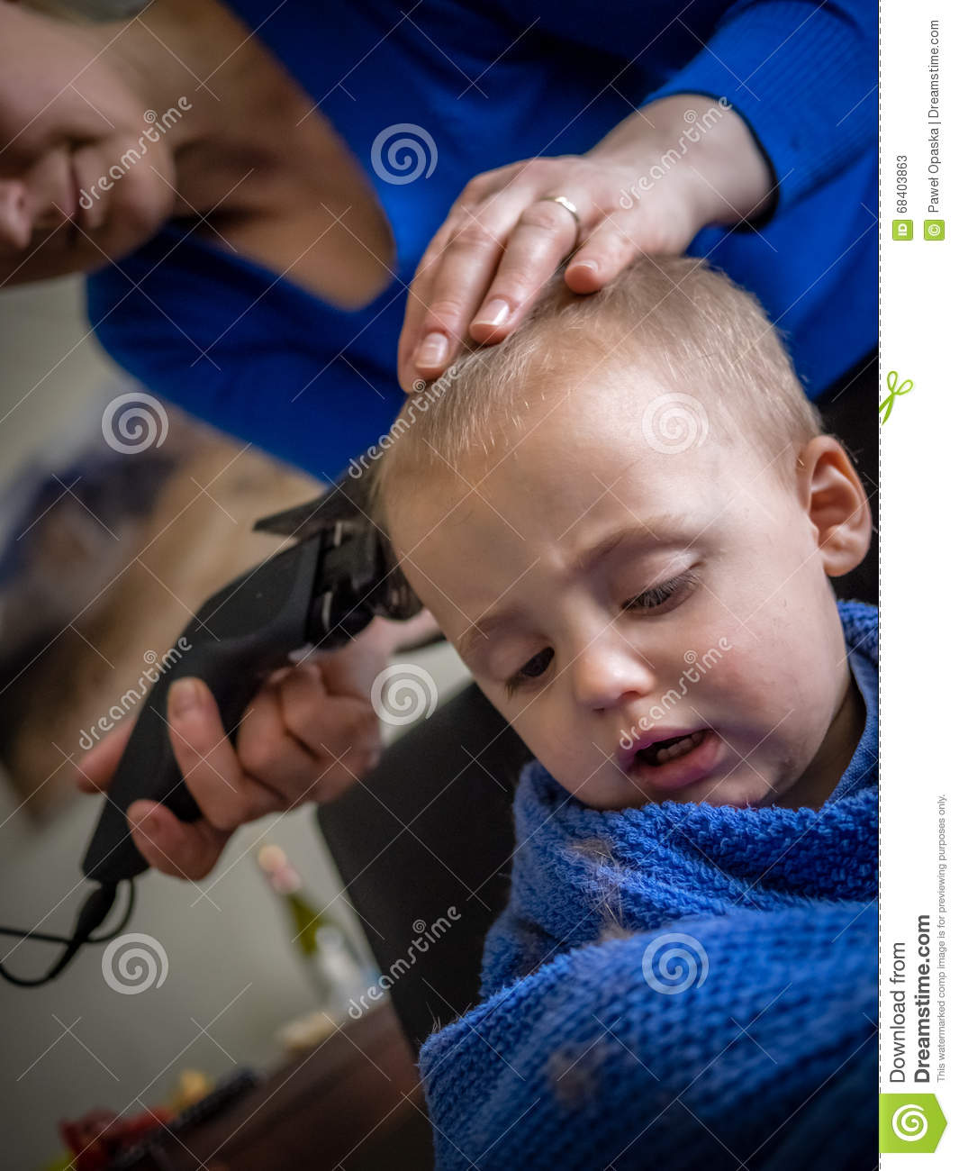 Little Boy Haircut Stock Image Image Of Design Care 68403863