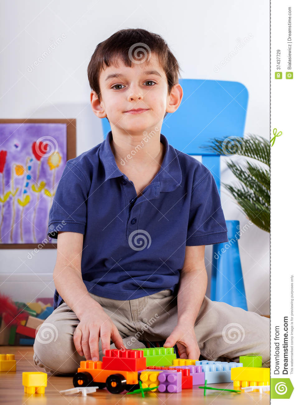 Little Boy In His Room Royalty Free Stock Images Image