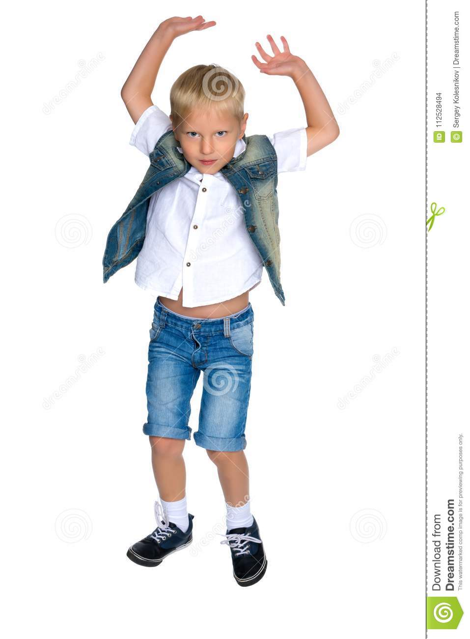 66f8fa317 Little boy jumping stock photo. Image of moment