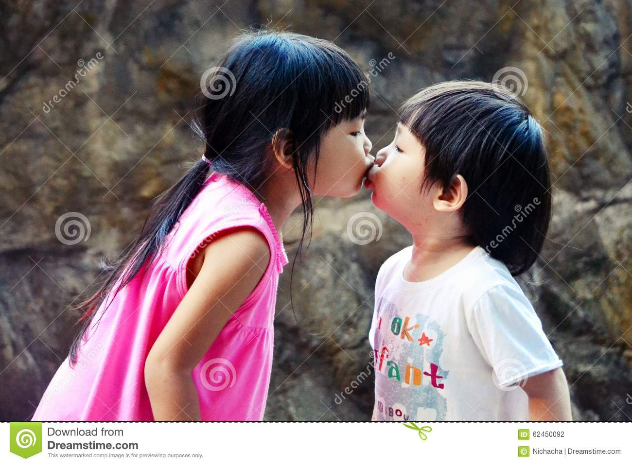 Cute asian kids kissing stock photo image of cute children 62450092 cute little boy and girl kissing asian kids altavistaventures Images