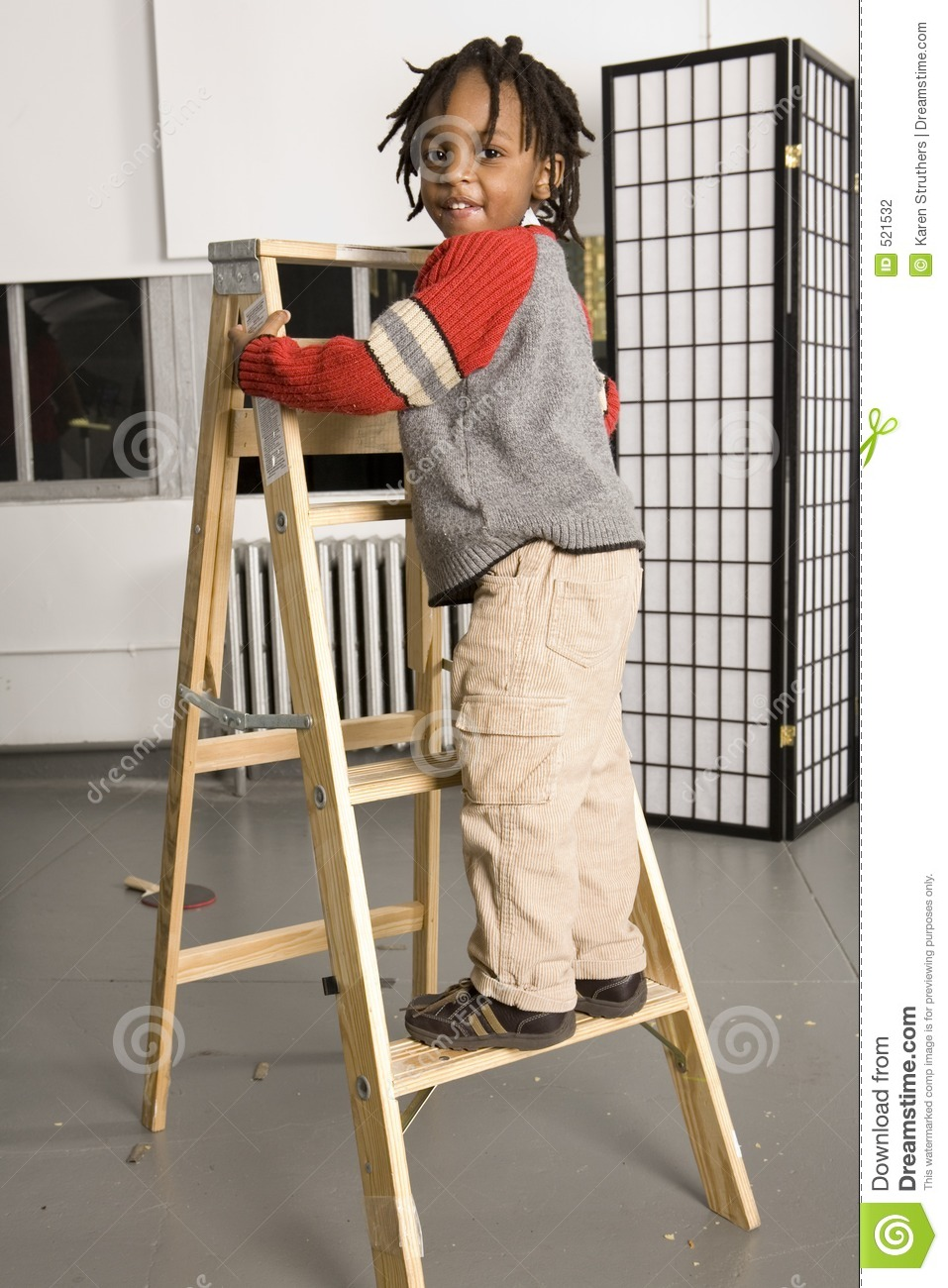 Little Boy On A Ladder Stock Photography Image 521532