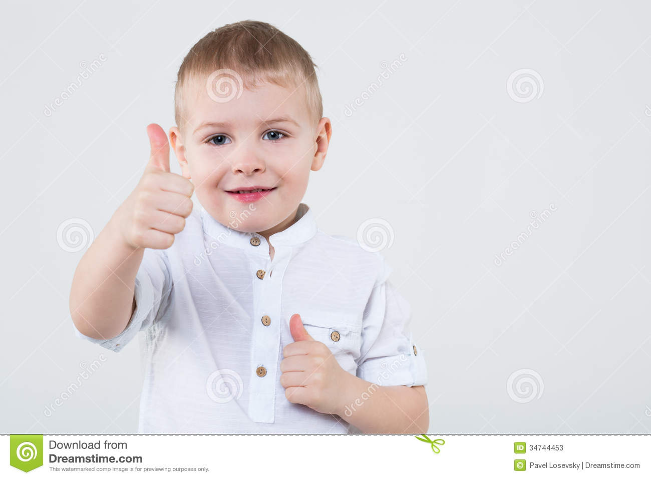 Download Little Boy Making Thumbs Up Stock Illustration - Illustration of face, small: 34744453