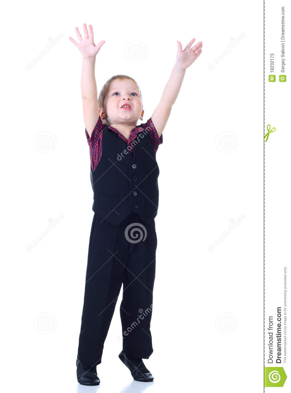 More similar stock images of ` Little boy move hands up `