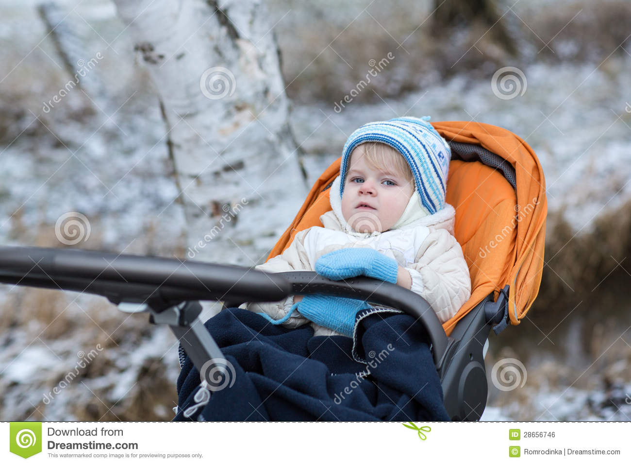 e0ca57107848 Little Boy One Year Old In Warm Winter Clothes Stock Photo - Image ...