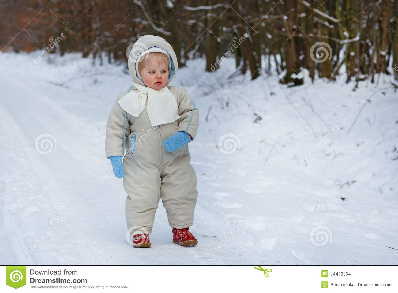little boy one year old in warm winter clothes stock photo image 34416864. Black Bedroom Furniture Sets. Home Design Ideas