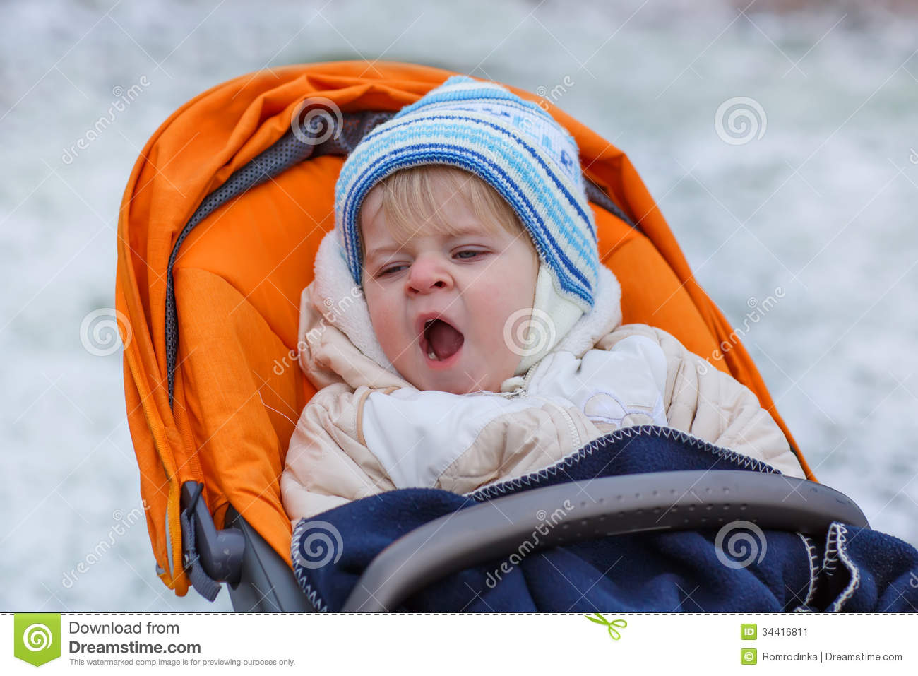 ab599728f14d Little Boy One Year Old In Warm Winter Clothes Stock Image - Image ...