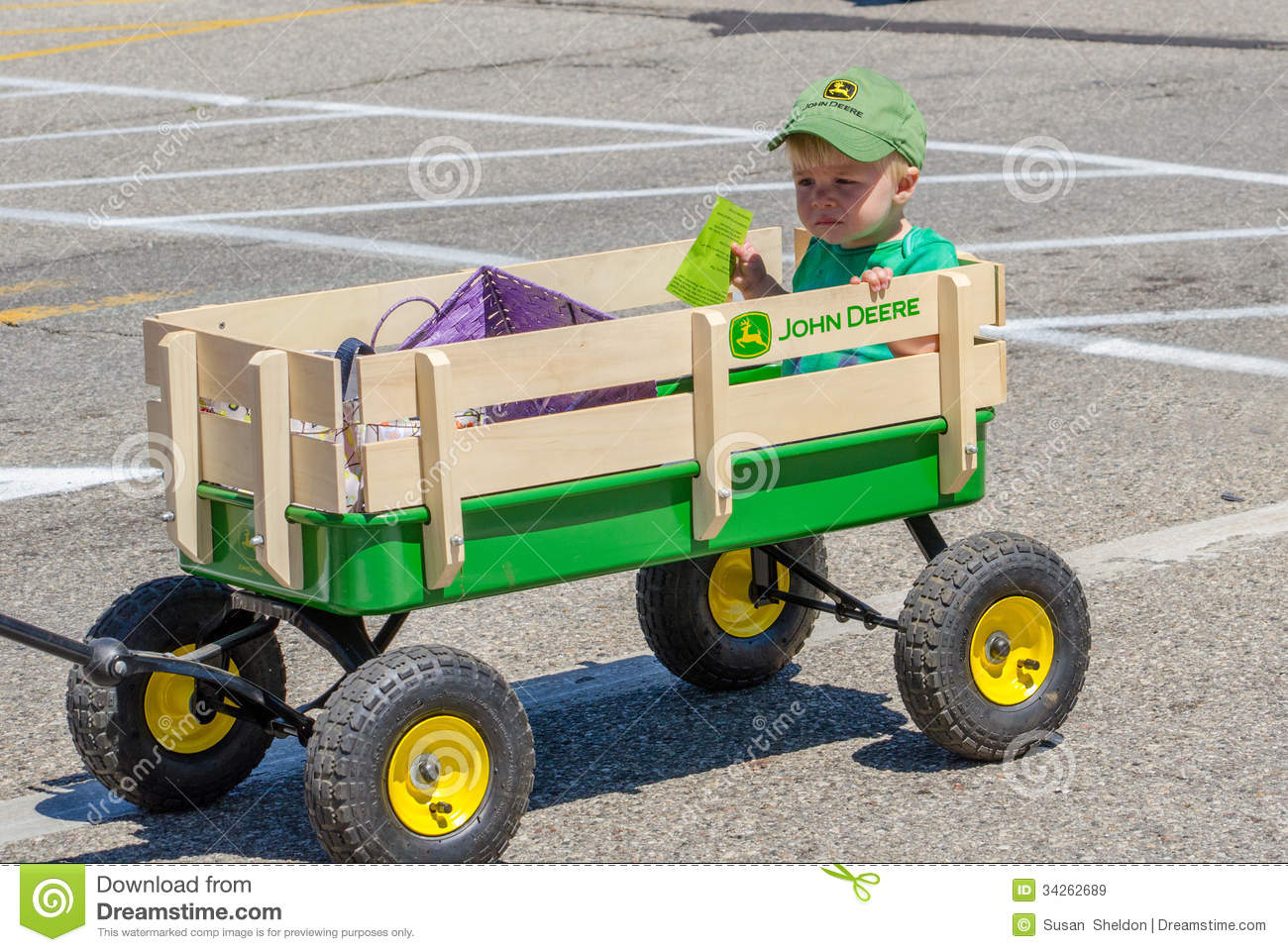 Little Boy In A Parade Editorial Stock Image Image Of Wagon 34262689