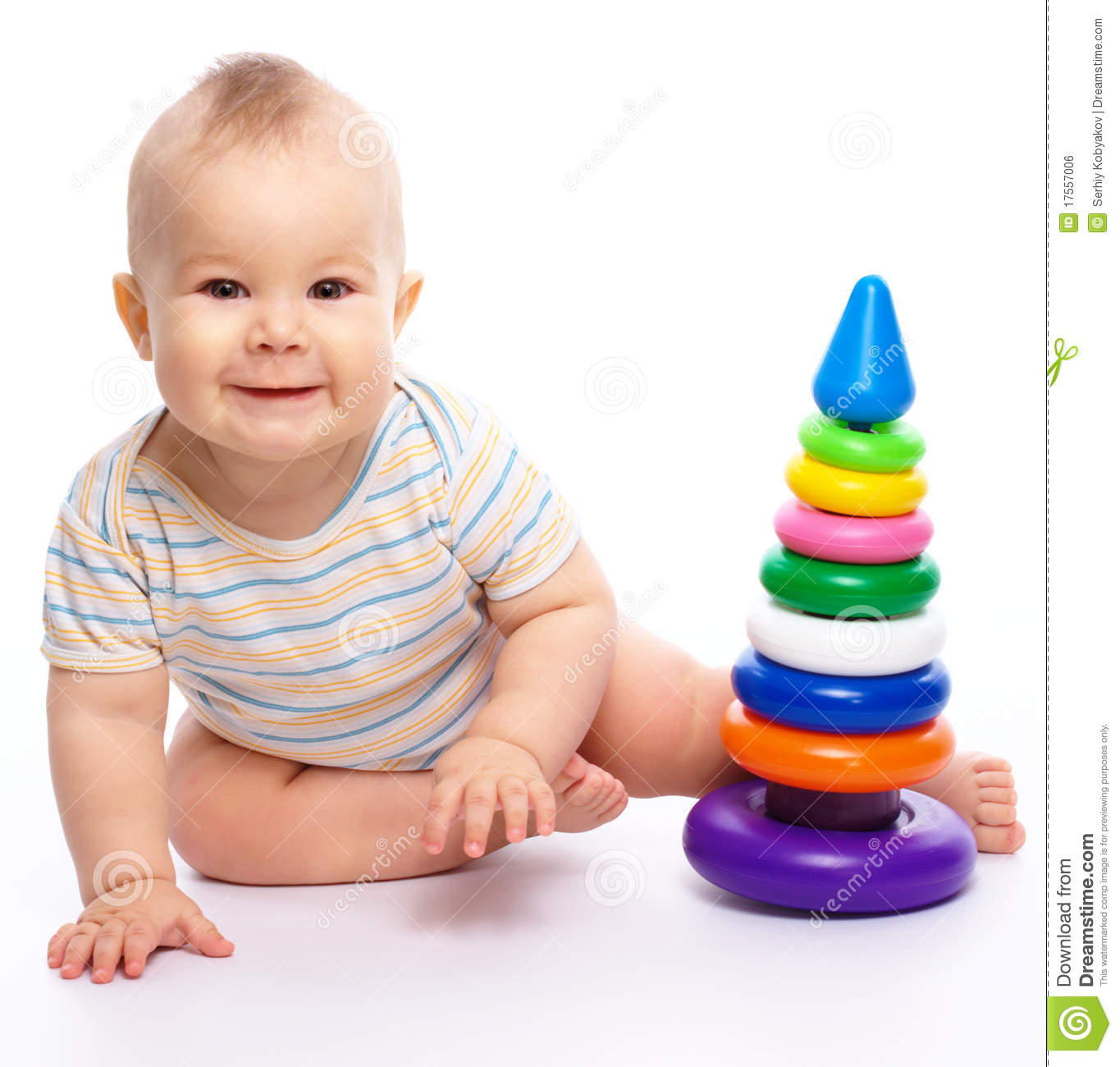 Little Boy Toys : Little boy play with toys royalty free stock image
