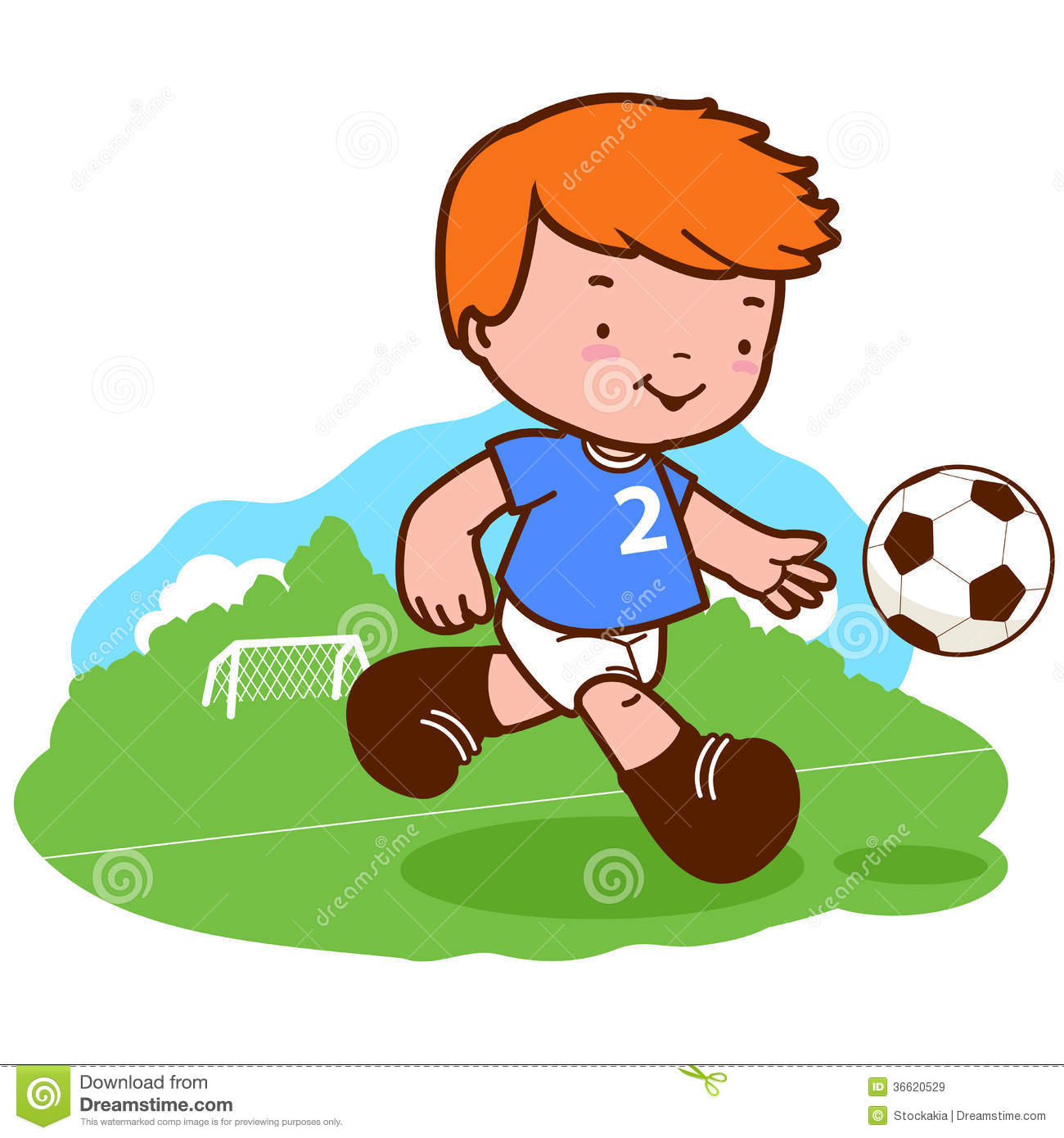boy playing soccer royalty free stock images image 36620529 Football Player Running Clip Art cartoon football player clipart