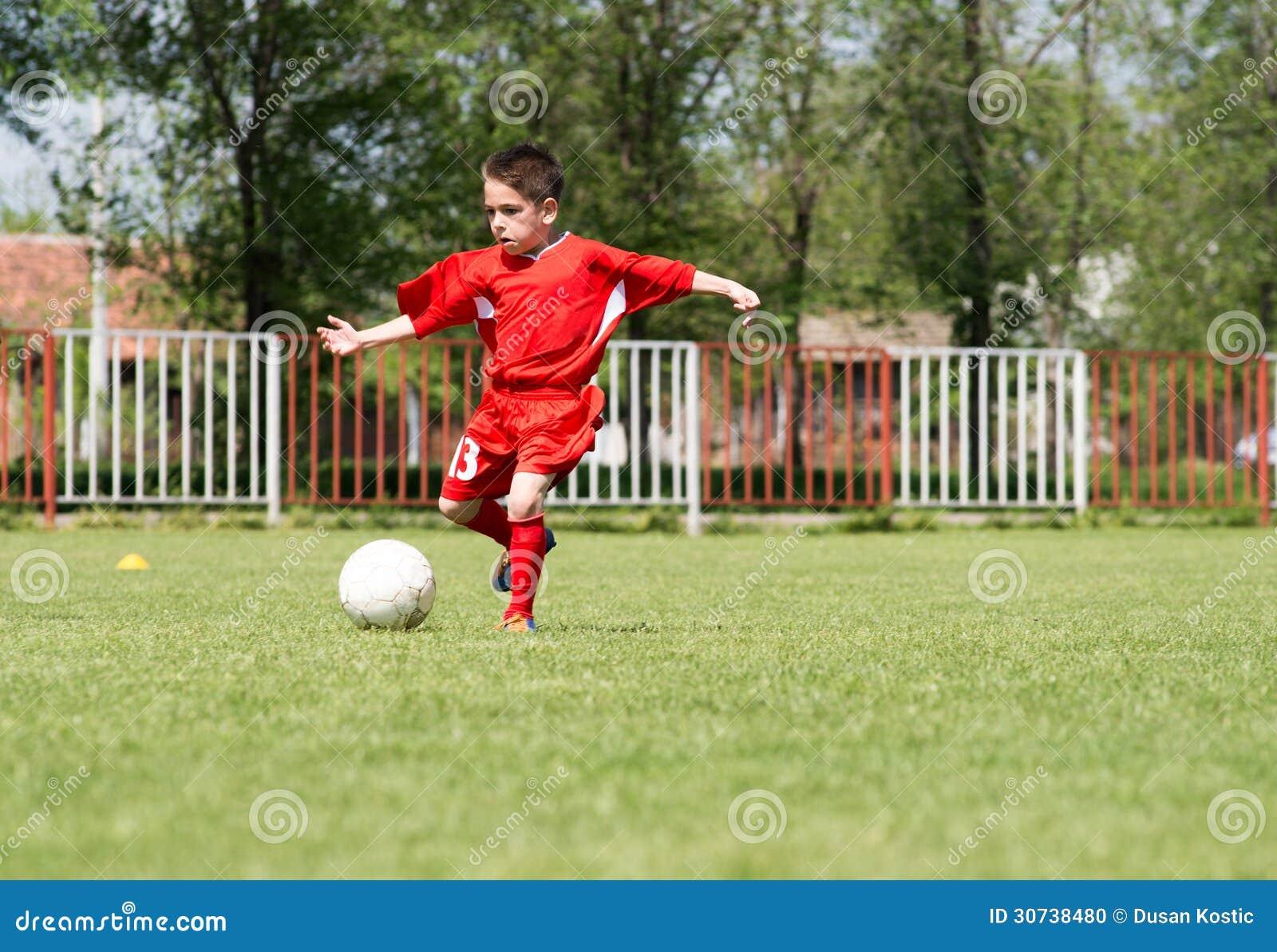 Little Boys Playing Soccer