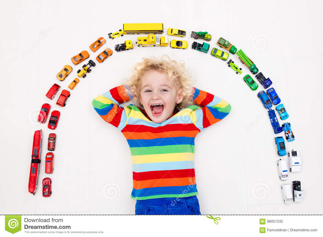 Little Boy Toys : Little boy playing with toy cars toys for kids stock